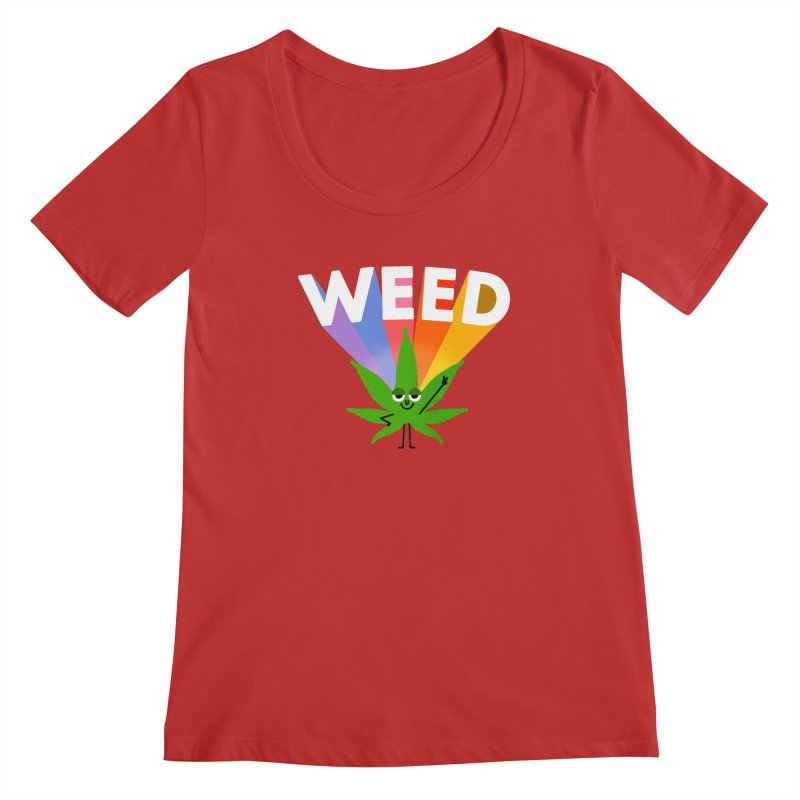 Weed Women's Regular Scoop Neck by Mauro Gatti House of Fun