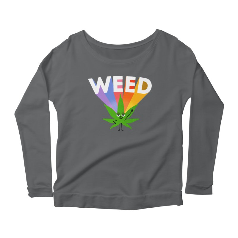 Weed Women's Scoop Neck Longsleeve T-Shirt by Mauro Gatti House of Fun