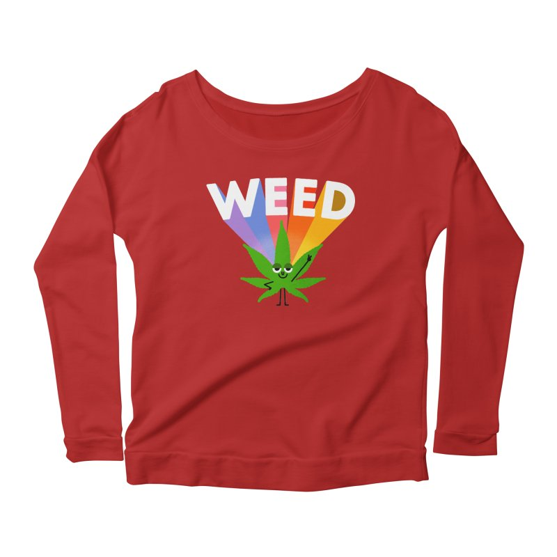 Weed Women's Longsleeve Scoopneck  by Mauro Gatti House of Fun
