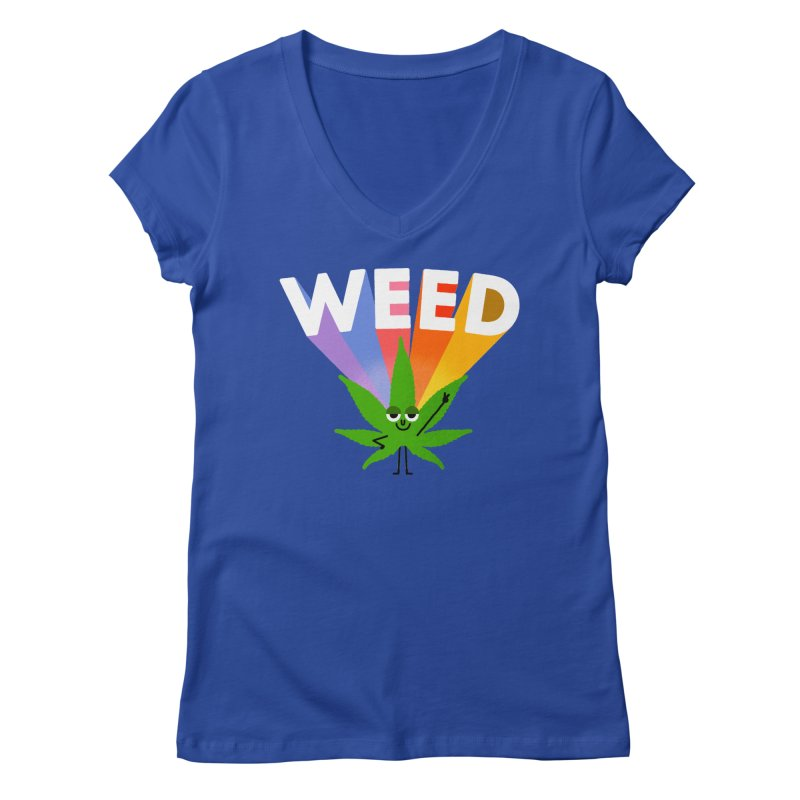 Weed Women's Regular V-Neck by Mauro Gatti House of Fun
