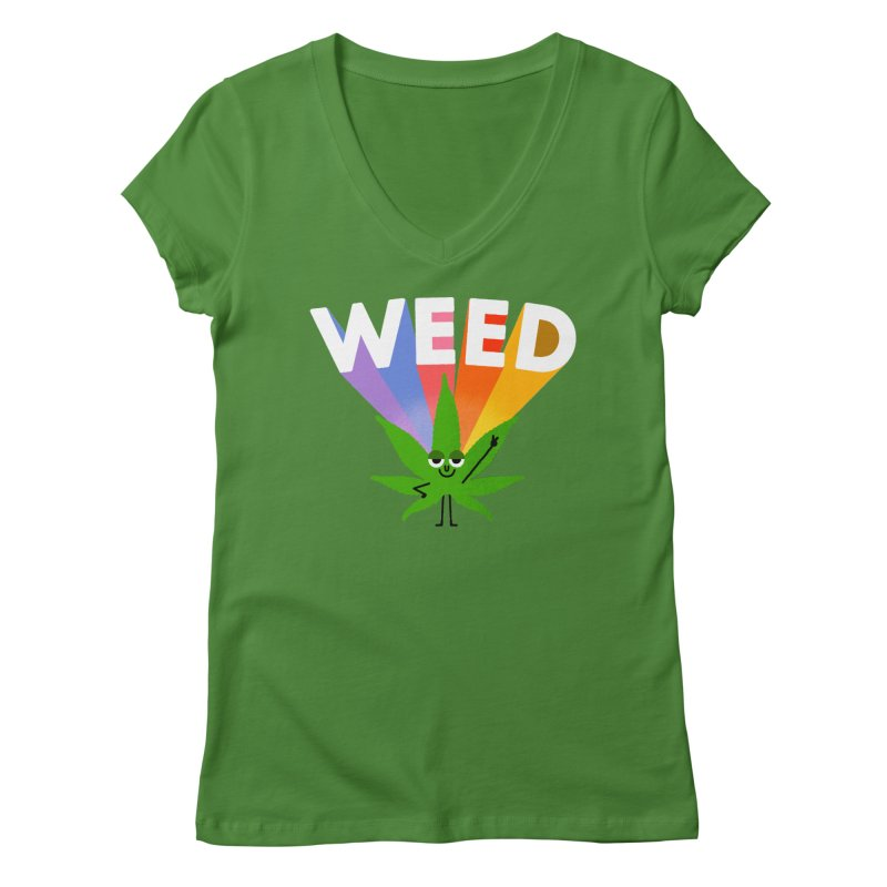 Weed Women's Regular V-Neck by Mauro Gatti House of Fun