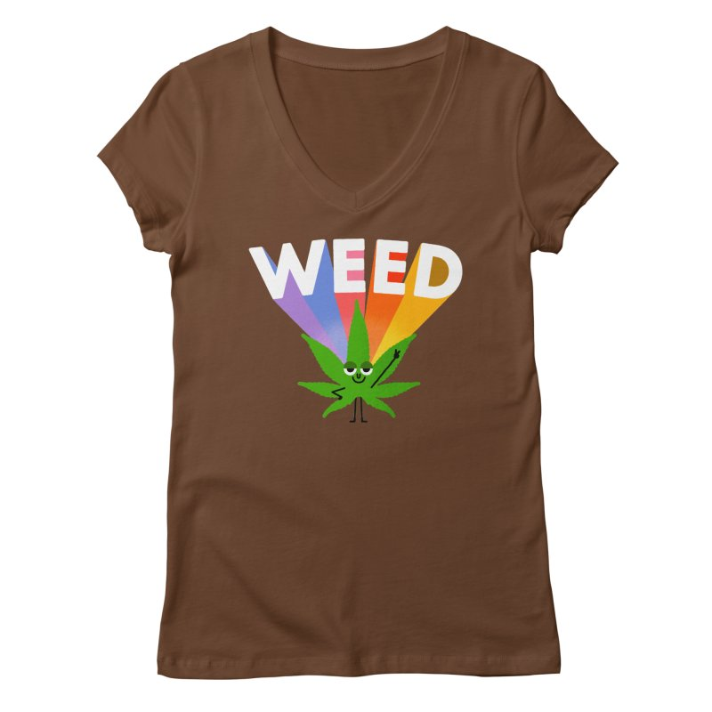 Weed Women's V-Neck by Mauro Gatti House of Fun