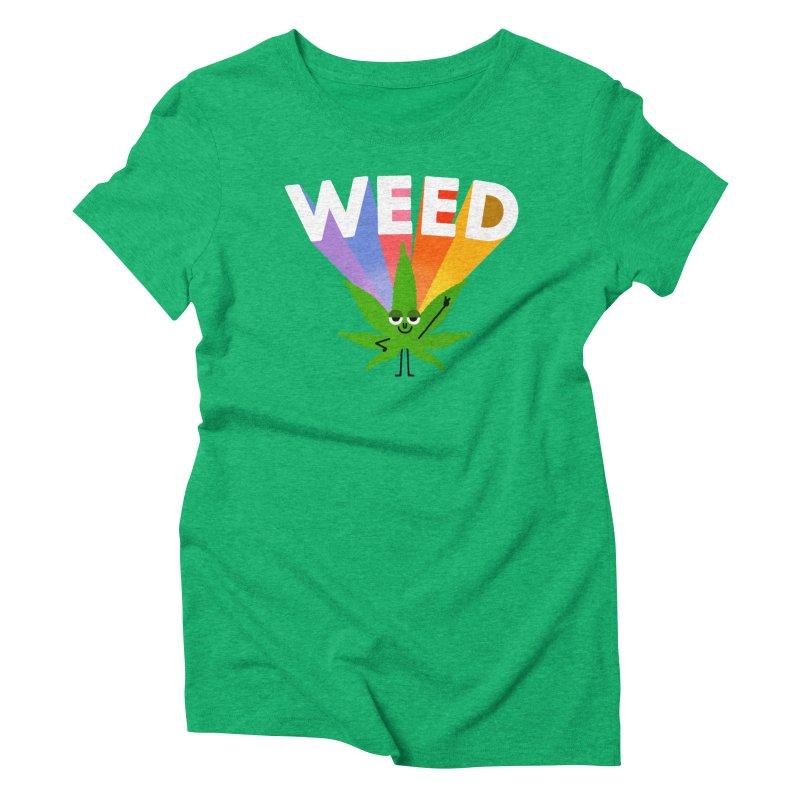 Weed Women's Triblend T-Shirt by Mauro Gatti House of Fun