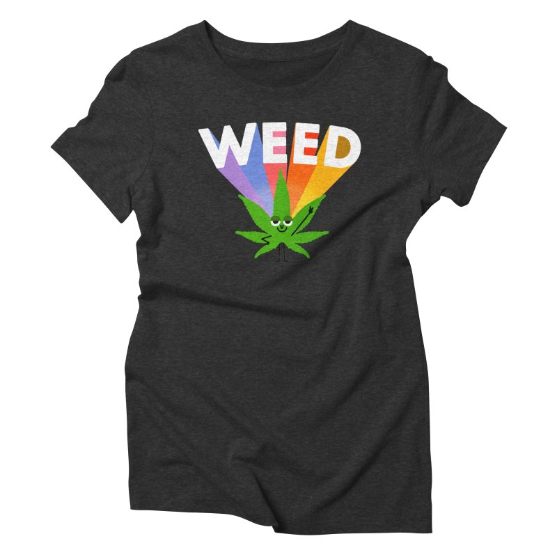 Weed Women's Triblend T-shirt by Mauro Gatti House of Fun