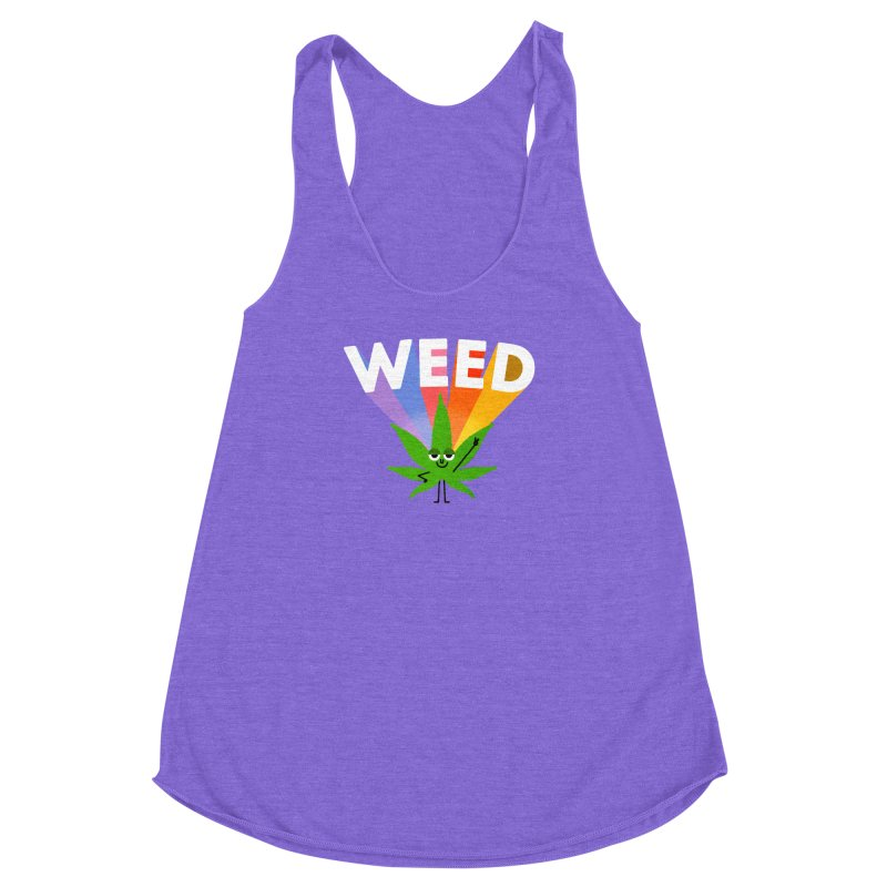 Weed Women's Racerback Triblend Tank by Mauro Gatti House of Fun