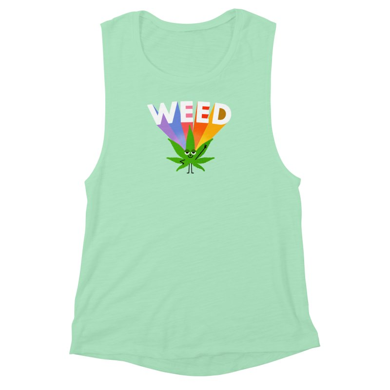 Weed Women's Muscle Tank by Mauro Gatti House of Fun