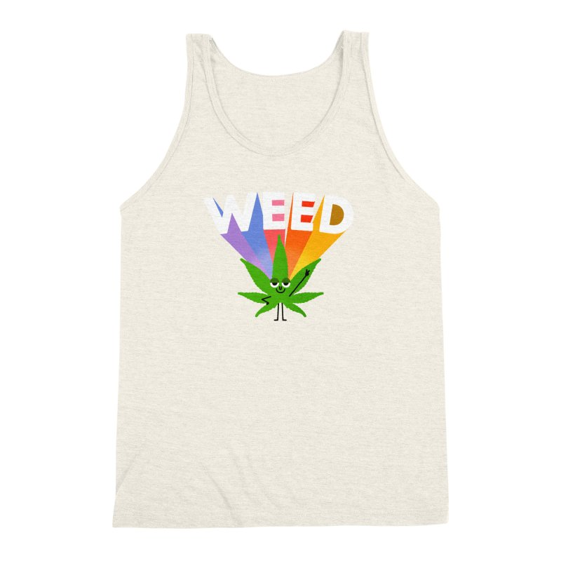 Weed Men's Triblend Tank by Mauro Gatti House of Fun