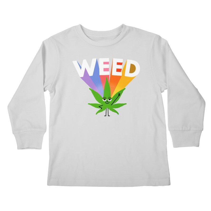 Weed Kids Longsleeve T-Shirt by Mauro Gatti House of Fun