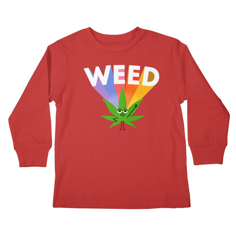 Weed Kids Longsleeve T-Shirt by Mauro Gatti House of Fun