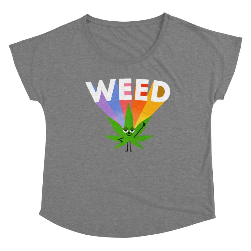 Weed Women's Scoop Neck by Mauro Gatti House of Fun