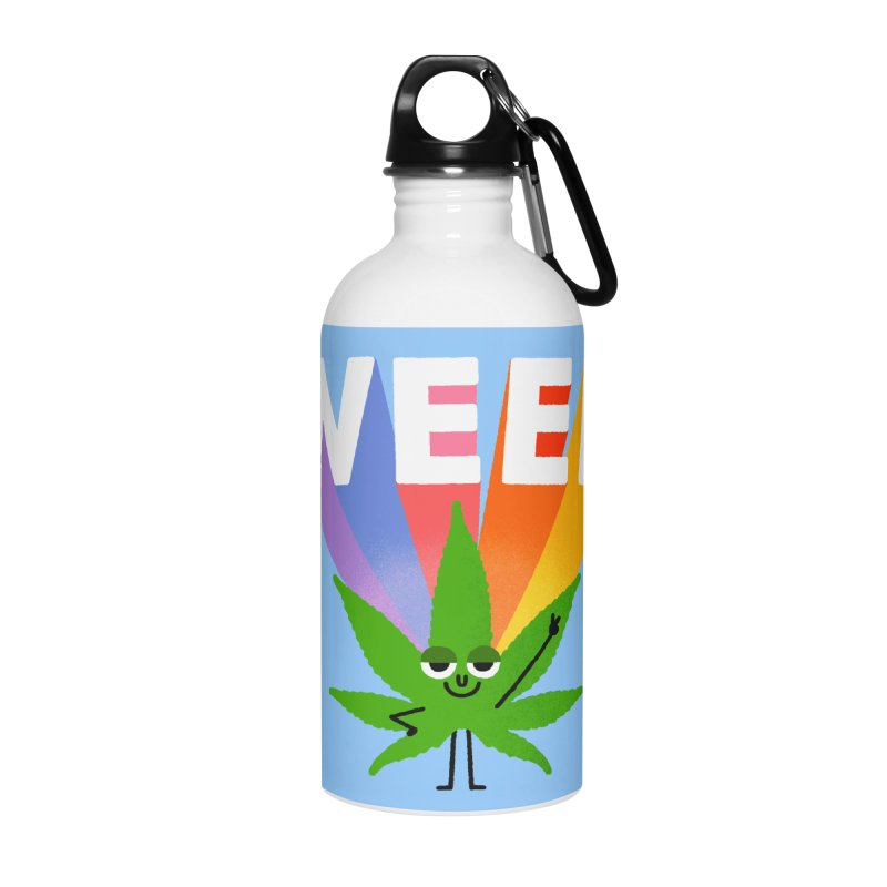 Weed Accessories Water Bottle by Mauro Gatti House of Fun