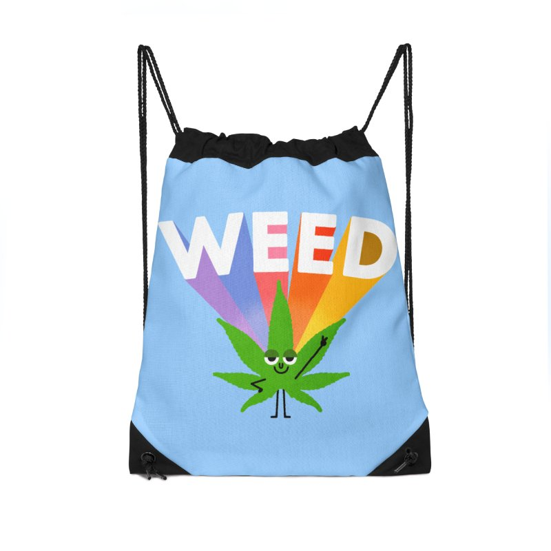 Weed Accessories Drawstring Bag Bag by Mauro Gatti House of Fun