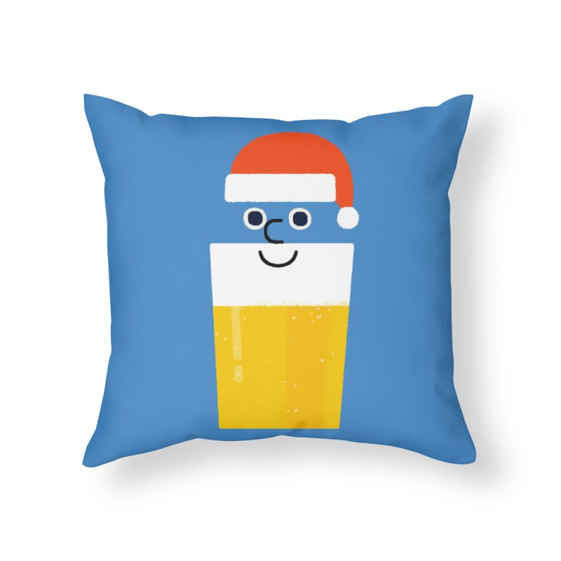 Beery Christmas Home Throw Pillow by Mauro Gatti House of Fun