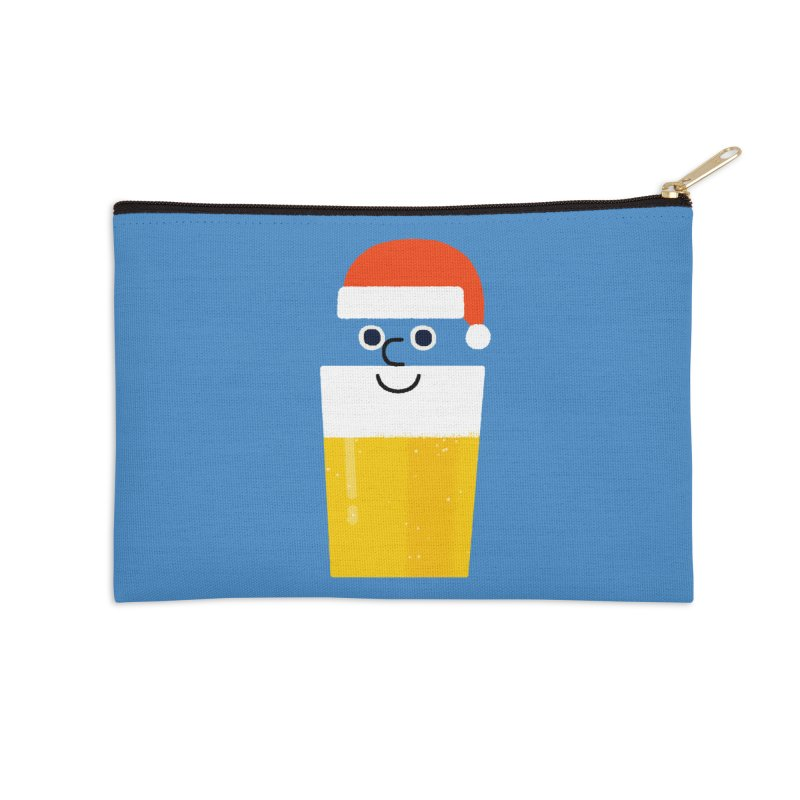 Beery Christmas Accessories Zip Pouch by Mauro Gatti House of Fun