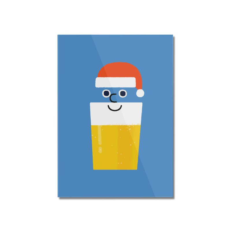 Beery Christmas Home Mounted Acrylic Print by Mauro Gatti House of Fun