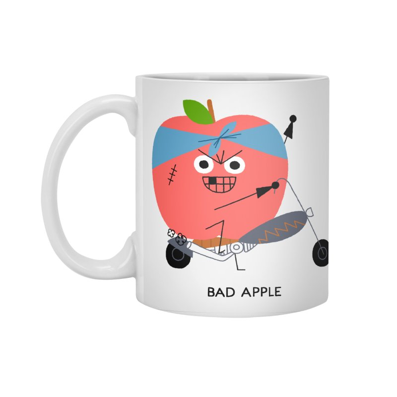 Bad Apple Accessories Standard Mug by Mauro Gatti House of Fun