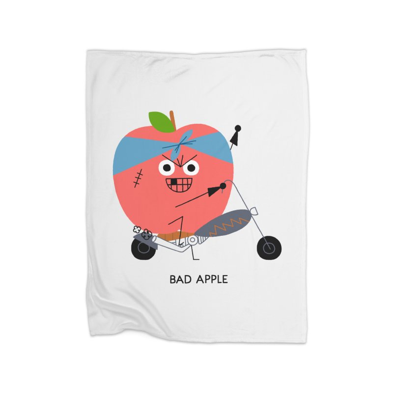 Bad Apple Home Fleece Blanket Blanket by Mauro Gatti House of Fun