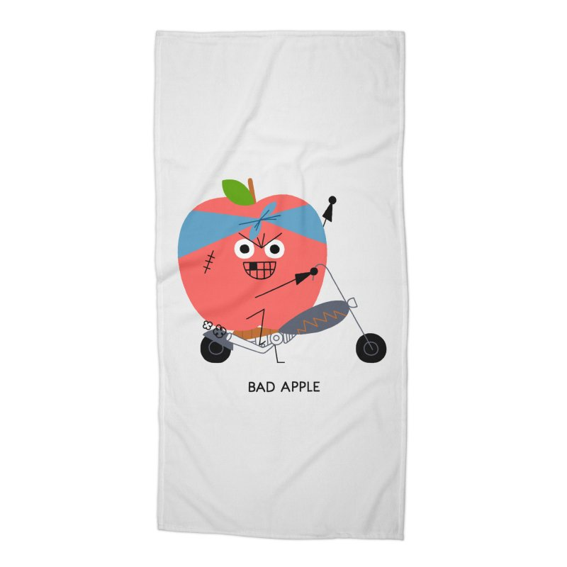 Bad Apple Accessories Beach Towel by Mauro Gatti House of Fun
