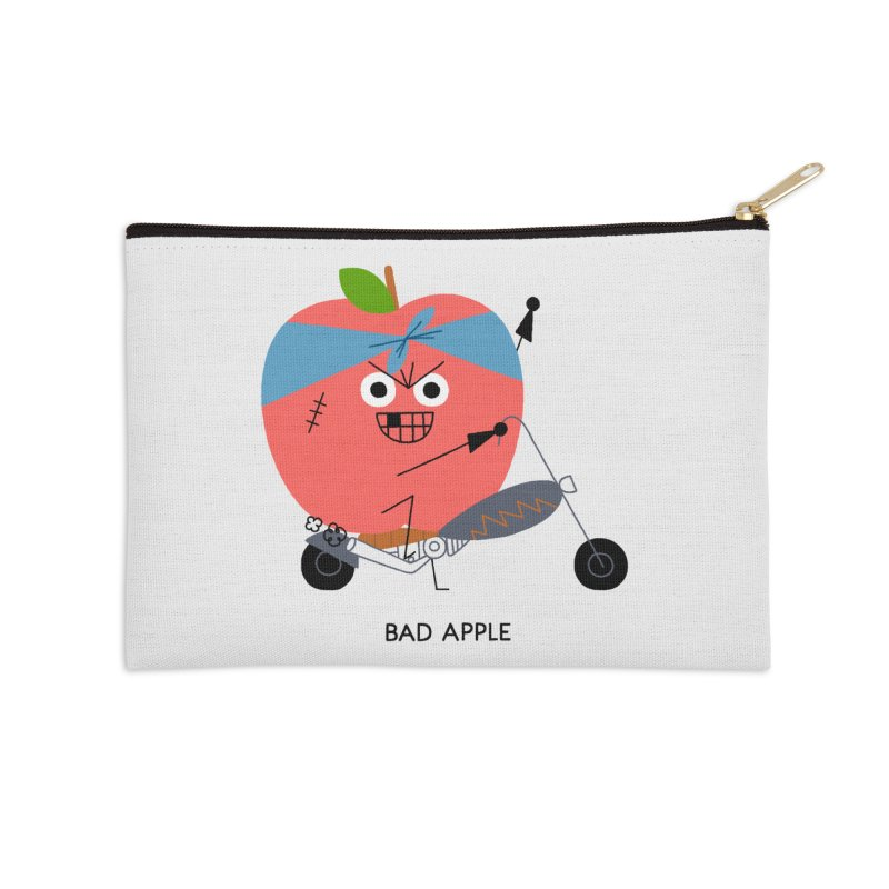 Bad Apple Accessories Zip Pouch by Mauro Gatti House of Fun