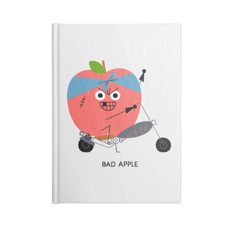 Bad Apple Accessories Lined Journal Notebook by Mauro Gatti House of Fun