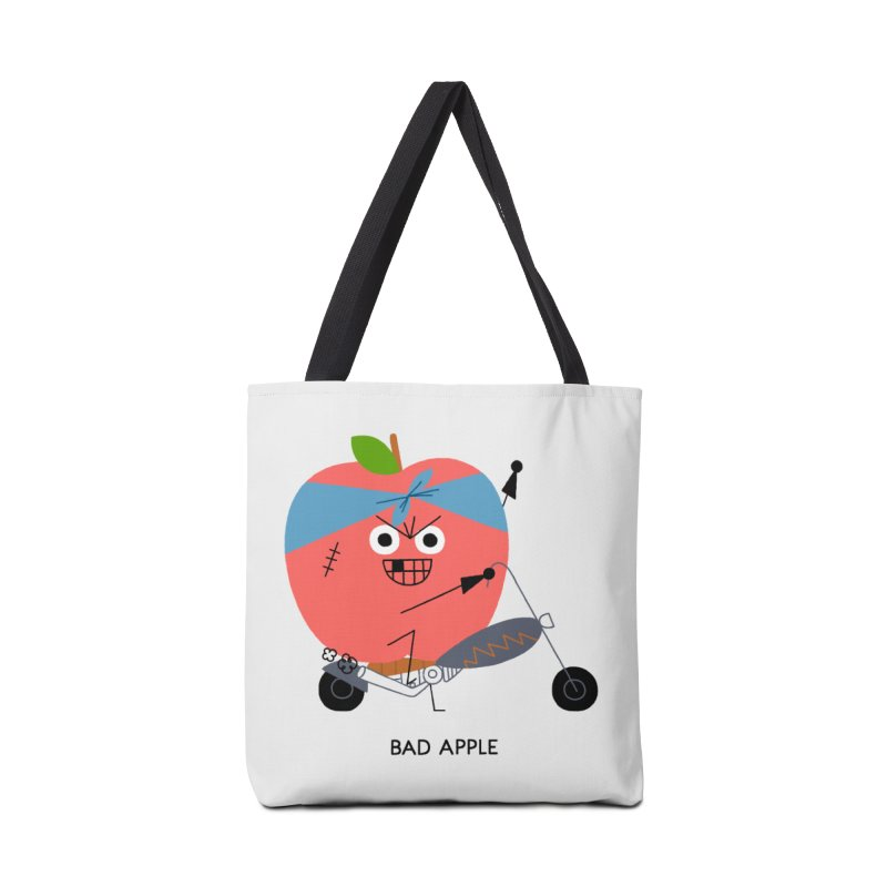 Bad Apple Accessories Tote Bag Bag by Mauro Gatti House of Fun
