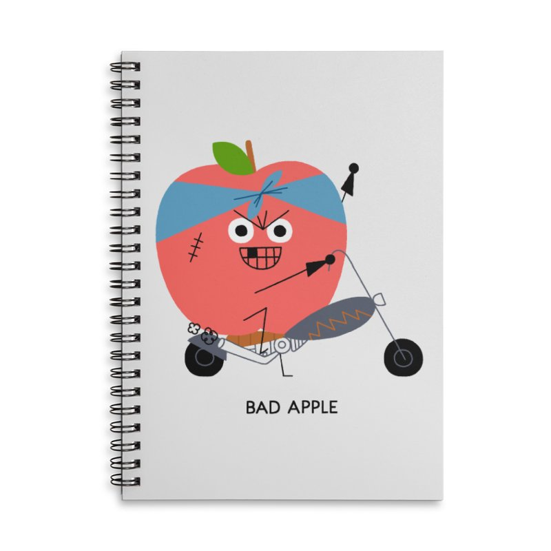 Bad Apple Accessories Lined Spiral Notebook by Mauro Gatti House of Fun