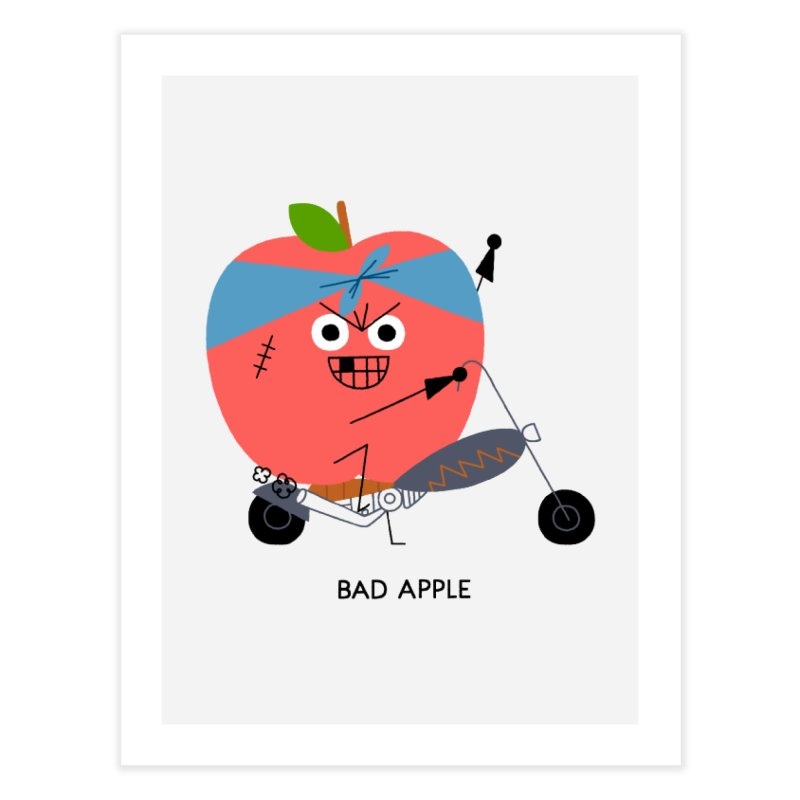 Bad Apple Home Fine Art Print by Mauro Gatti House of Fun