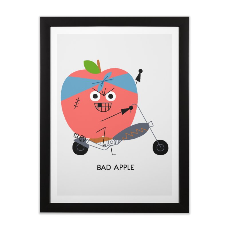 Bad Apple Home Framed Fine Art Print by Mauro Gatti House of Fun