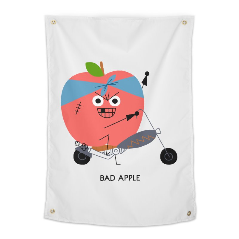 Bad Apple Home Tapestry by Mauro Gatti House of Fun