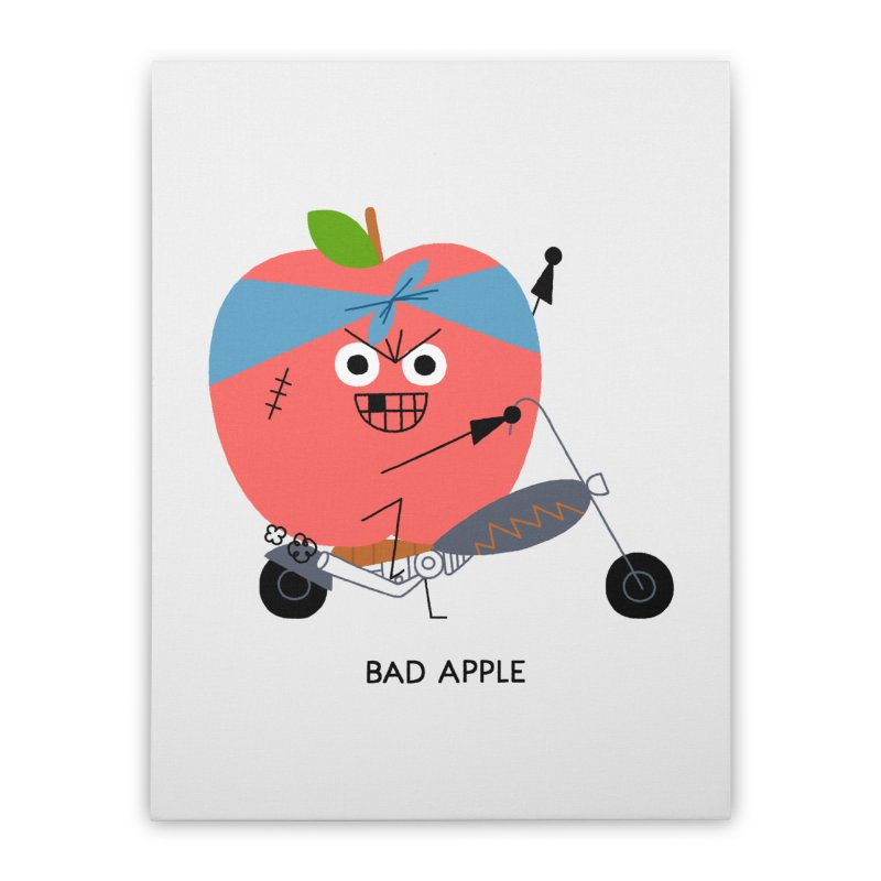 Bad Apple Home Stretched Canvas by Mauro Gatti House of Fun