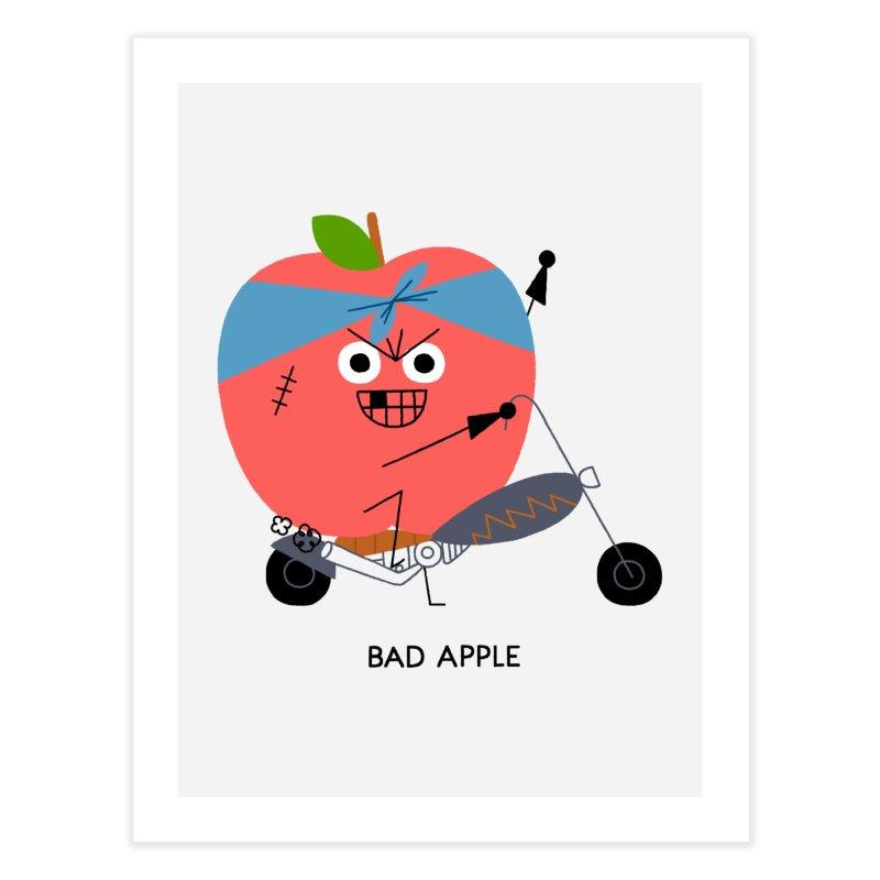 Bad Apple Home Fine Art Print by Mauro Gatti House of Fun