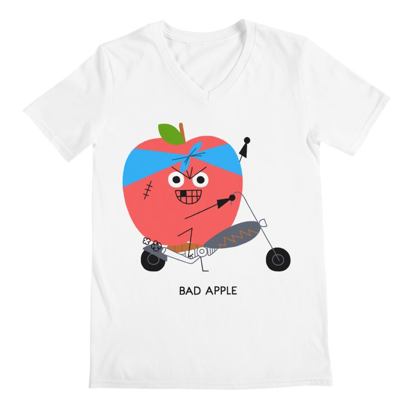 Bad Apple Men's V-Neck by Mauro Gatti House of Fun