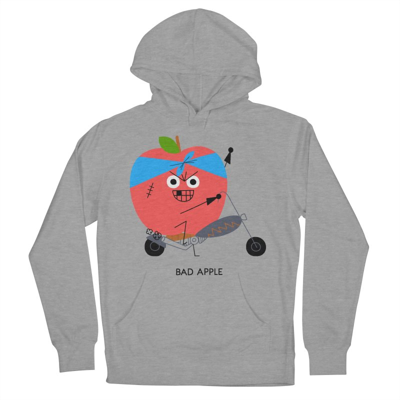 Bad Apple Women's French Terry Pullover Hoody by Mauro Gatti House of Fun