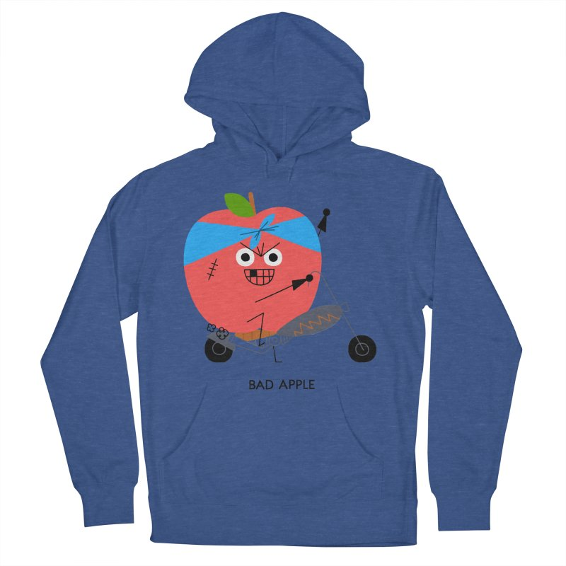 Bad Apple Men's French Terry Pullover Hoody by Mauro Gatti House of Fun