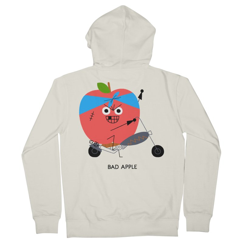 Bad Apple Women's French Terry Zip-Up Hoody by Mauro Gatti House of Fun