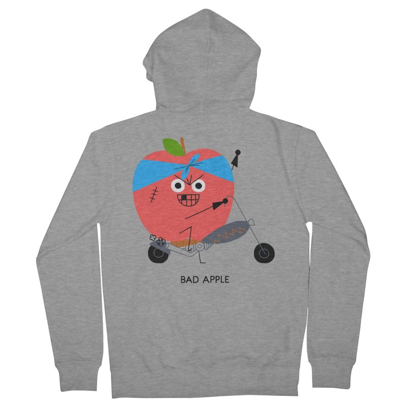 Bad Apple Men's French Terry Zip-Up Hoody by Mauro Gatti House of Fun