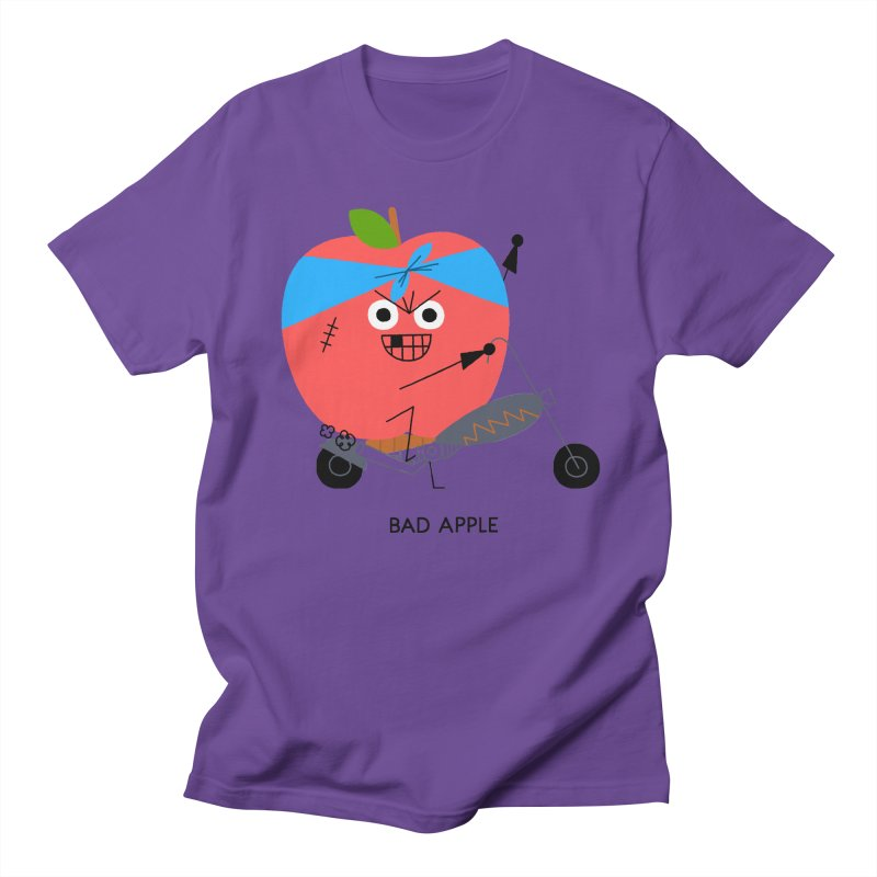 Bad Apple Women's Regular Unisex T-Shirt by Mauro Gatti House of Fun
