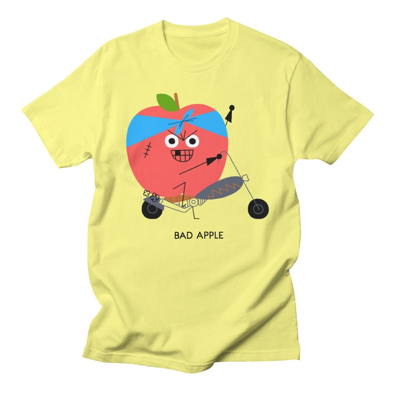 Bad Apple Women's Unisex T-Shirt by Mauro Gatti House of Fun