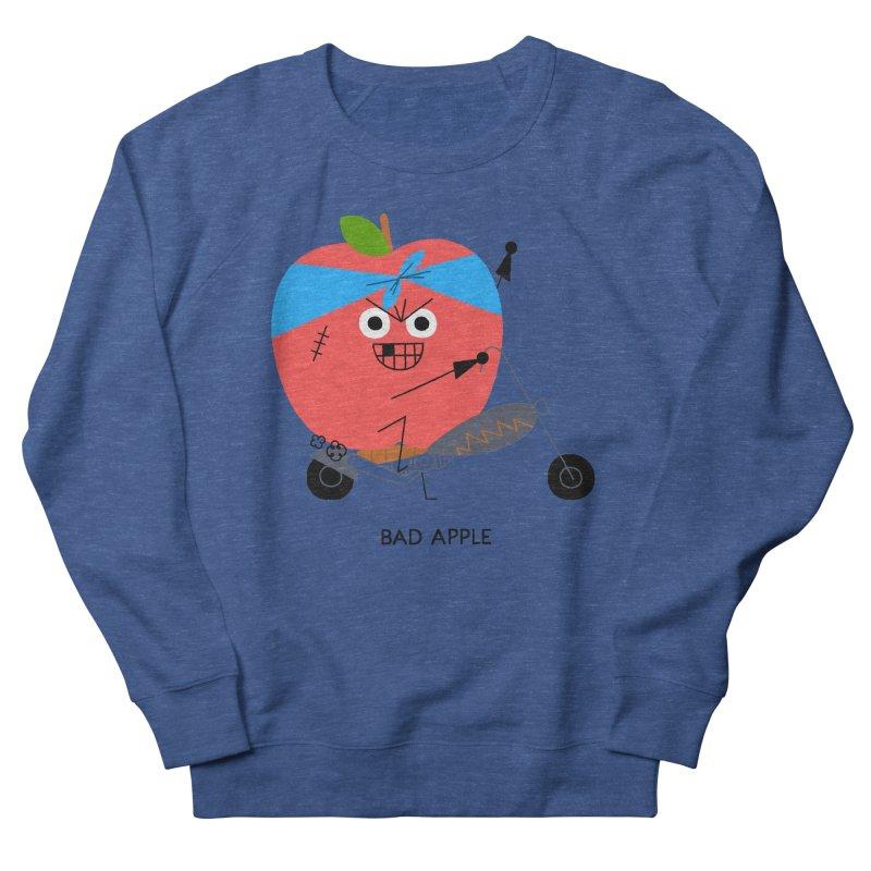 Bad Apple Women's French Terry Sweatshirt by Mauro Gatti House of Fun