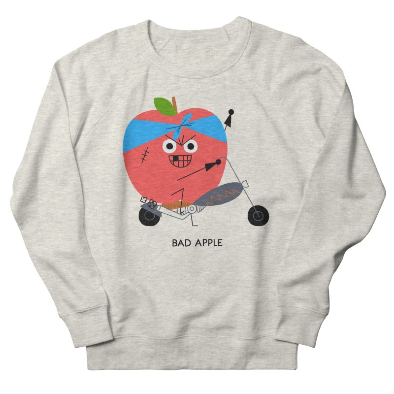 Bad Apple Women's French Terry Sweatshirt by Mauro Gatti House of Fun