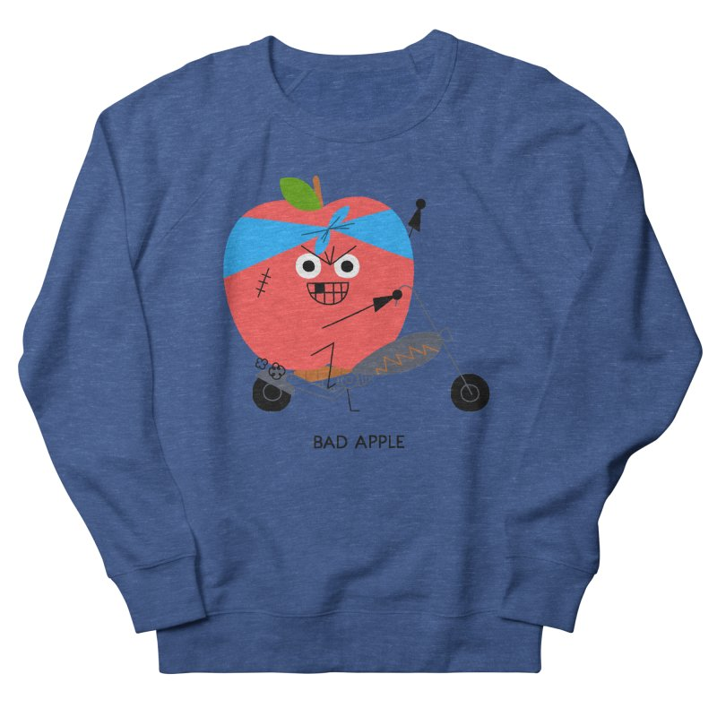 Bad Apple Men's French Terry Sweatshirt by Mauro Gatti House of Fun