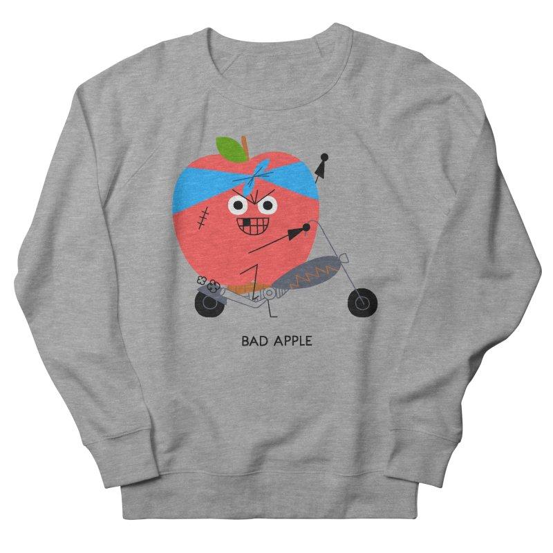 Bad Apple Men's French Terry Sweatshirt by Mauro Gatti House of Fun