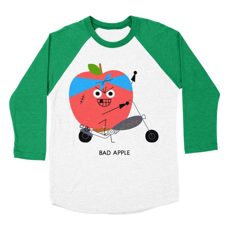 Bad Apple Women's Baseball Triblend Longsleeve T-Shirt by Mauro Gatti House of Fun