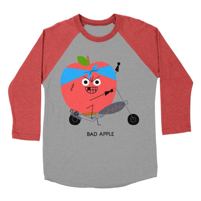 Bad Apple Men's Baseball Triblend Longsleeve T-Shirt by Mauro Gatti House of Fun