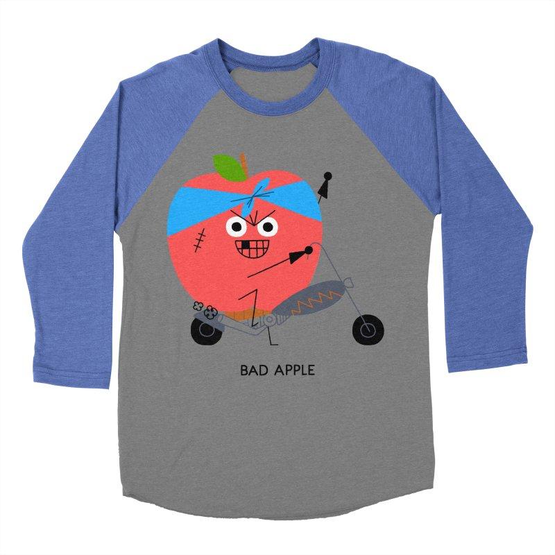 Bad Apple Men's Baseball Triblend T-Shirt by Mauro Gatti House of Fun