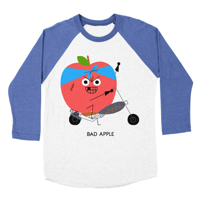 Bad Apple Men's Baseball Triblend Longsleeve T-Shirt by Mauro Gatti House of Fun