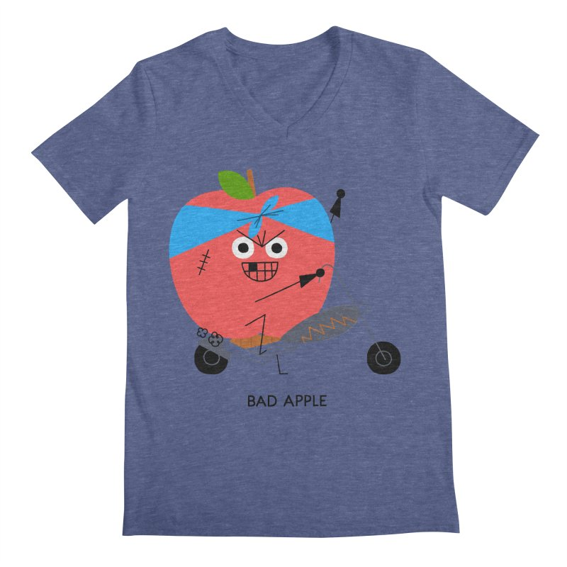 Bad Apple Men's V-Neck by Mauro Gatti House of Fun