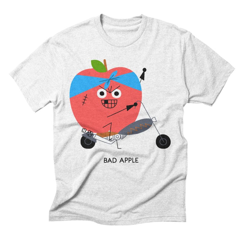 Bad Apple Men's Triblend T-shirt by Mauro Gatti House of Fun