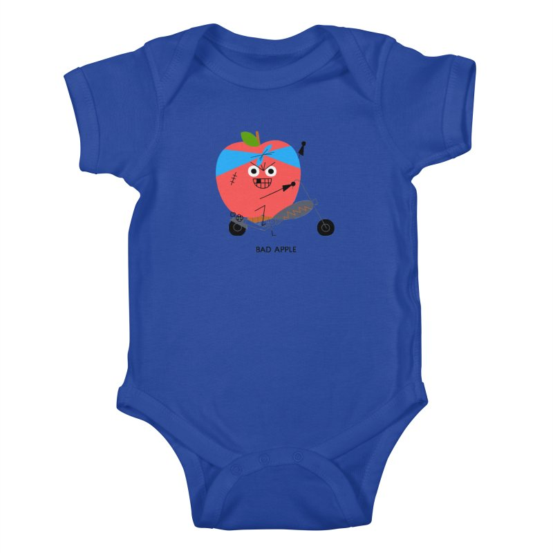Bad Apple Kids Baby Bodysuit by Mauro Gatti House of Fun