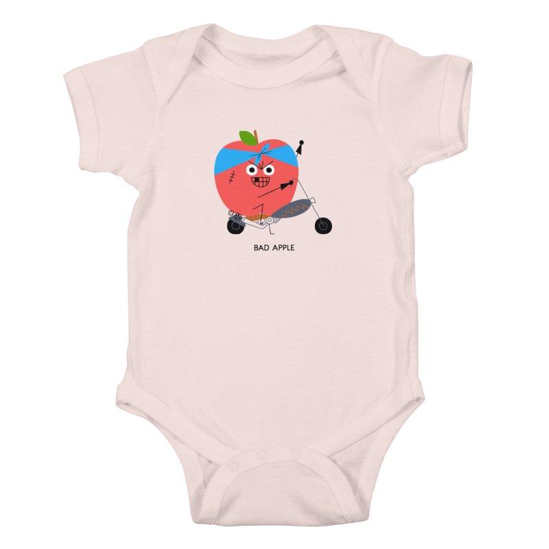 Bad Apple Kids Baby Bodysuit by Mauro Gatti House of Fun
